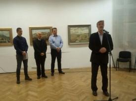 Predsjednik Vlade ŽZH Zdenko Ćosić otvorio izložbu likovnih radova fra Mirka Ćosića