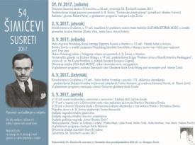 Program 54. Šimićevih susreta 2017.